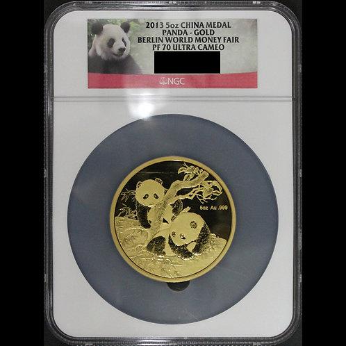 (ko)中国 5オンスパンダゴールドメダル ベルリンワールドマネーフェア NGC PF70UC