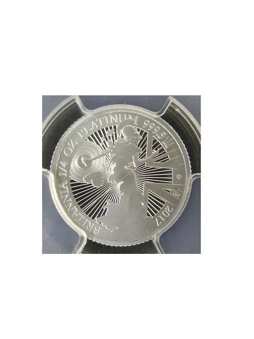 2017年ブリタニア プラチナ貨 25ポンド 1/4oz PCGS PR69DCAM