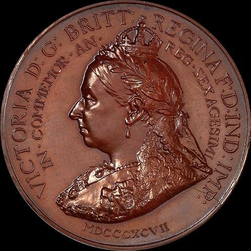 稀少! 1897年ヴィクトリア女王ダイアモンドジュビリー NGC MS66BN