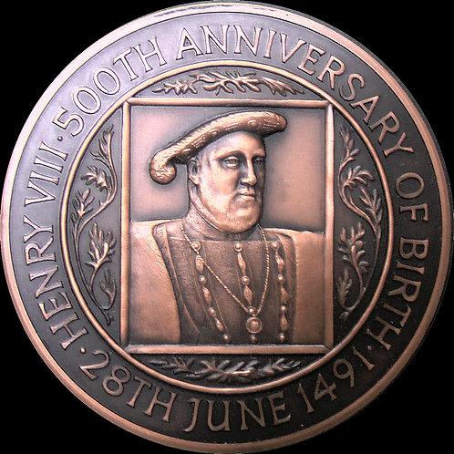 1991年 キング・ヘンリー8世 生誕500周年記念銅メダル