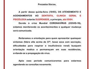 Secamp Informa: Suspensão de atendimento (COVID-19)