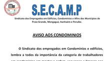 Secamp: Aviso aos Condomínios