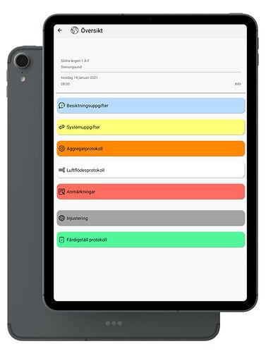 Appen approvent används på en ipad