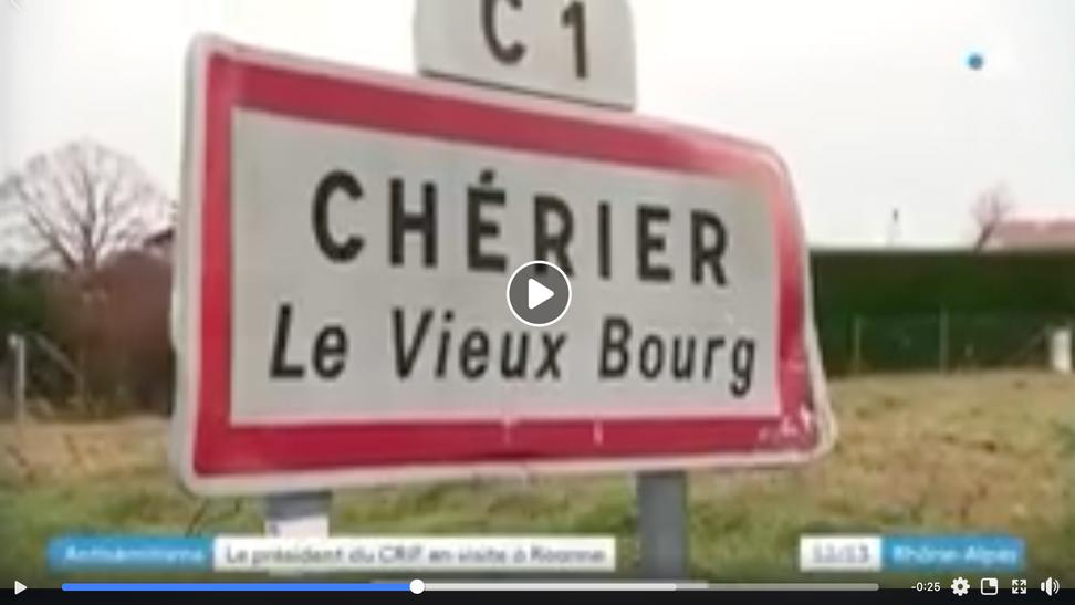 Le village de Cherier mis à l'honneur par le président du CRIF (Vidéo France 3)