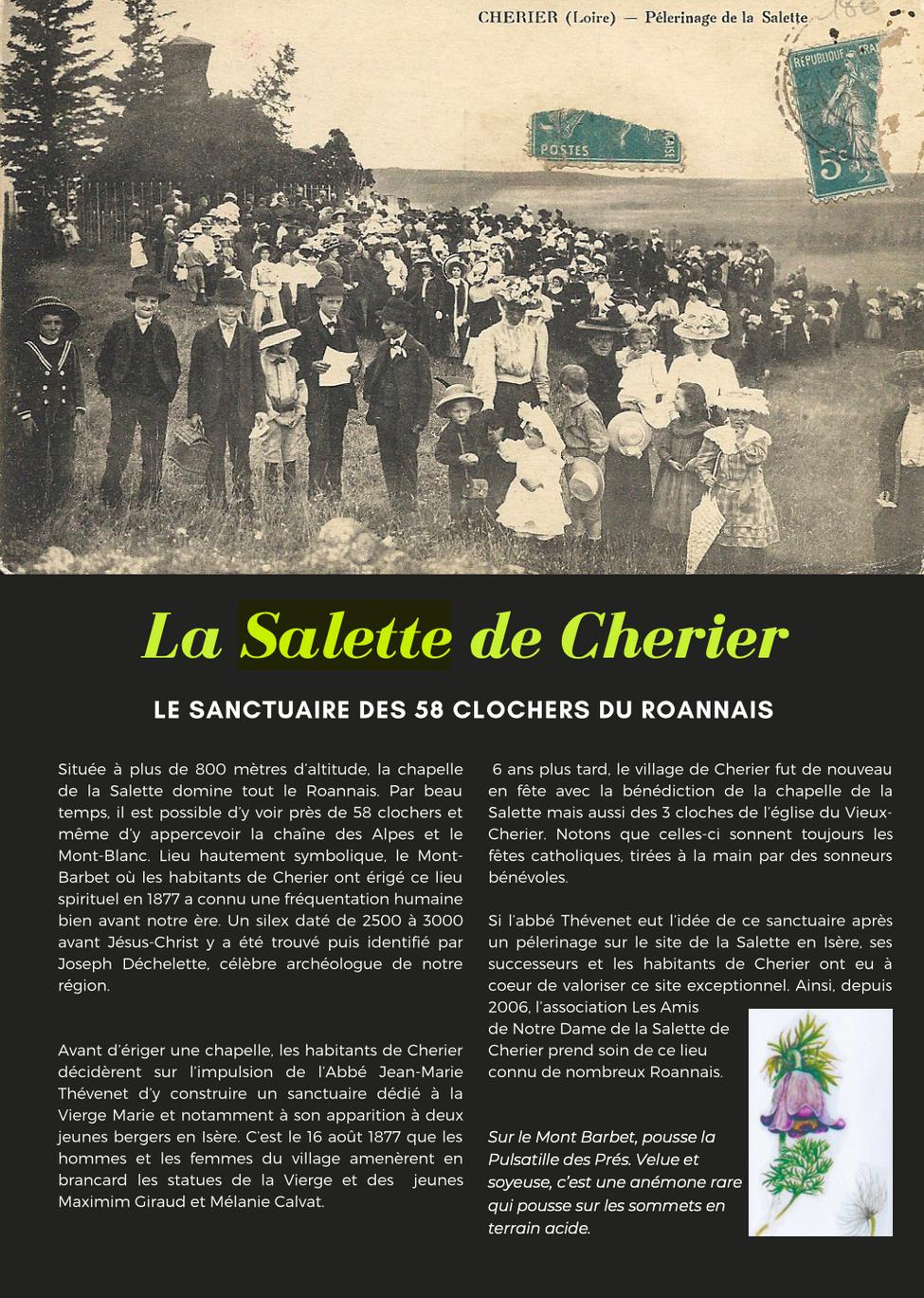 Retour sur les origines de la Salette de Cherier qui surplombe 58 clochers du Roannais