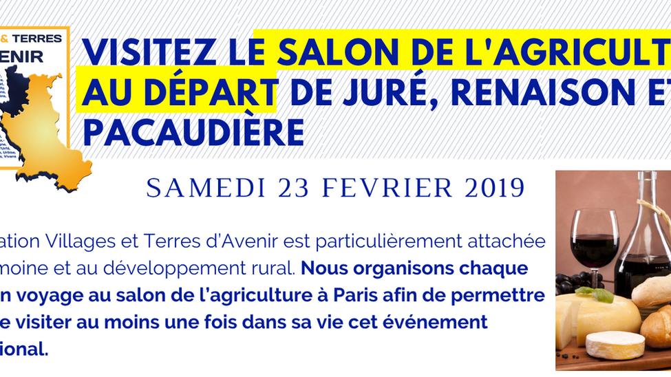 Le 23 février, visitez le salon de l'agriculture de Paris au départ de l'Ouest roannais !