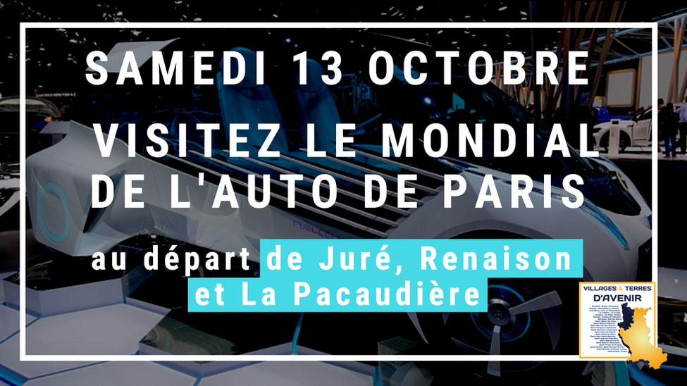 Fêtez les 120 ans du Mondial de l'Auto à Paris au départ de Juré, Renaison et La Pacaudière