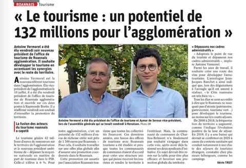 Presse : Antoine Vermorel-Marques, nouveau vice-président au tourisme
