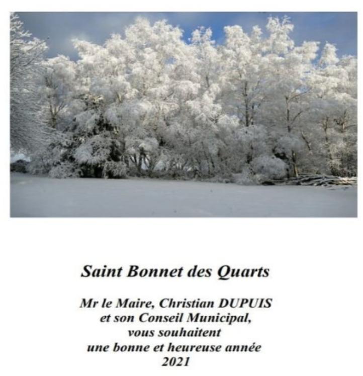 La neige et le soleil pour les voeux de Saint Bonnet