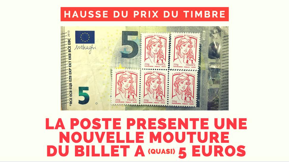 En 2018, le timbre coûtera quasiment 1€ !