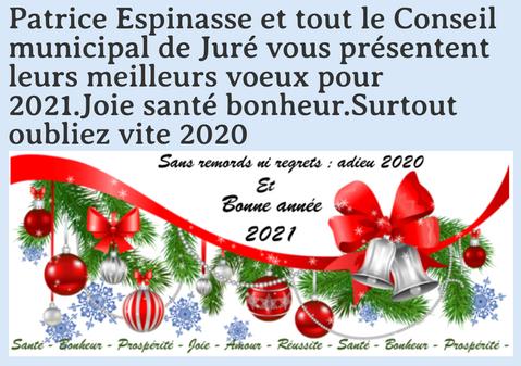 """""""Oubliez vite 2020"""" : les voeux de Juré"""