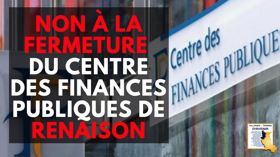 Renaison : non à la fermeture du dernier service public fiscal par l'Etat