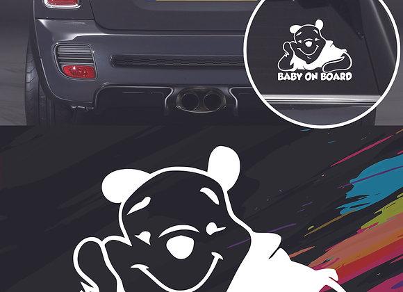 Pooh baby on board sticker