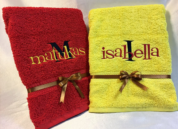 Kids towel with name