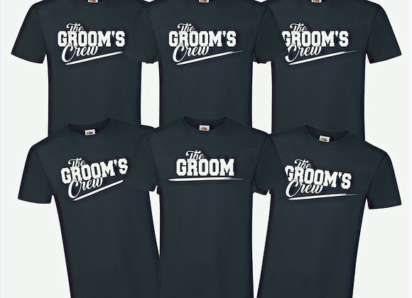 Personalised the groom's crew T Shirt