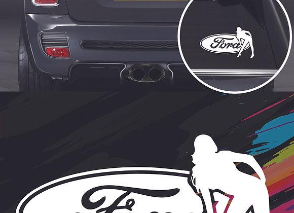 Ford girl sticker