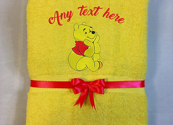 Bath towel with bear