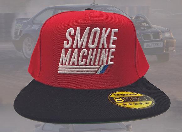 Snapback smoke machine cap