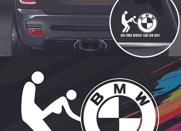 No free rides BMW sticker