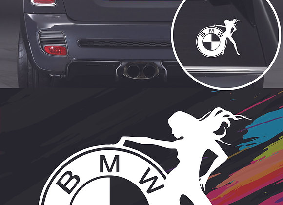 BMW girl sticker