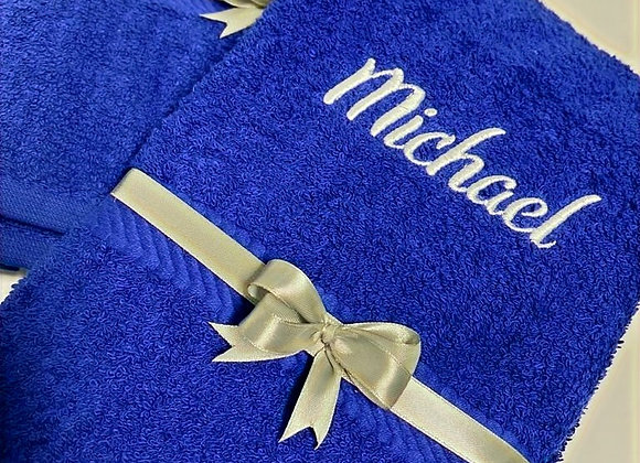 Hand towel with name in bold