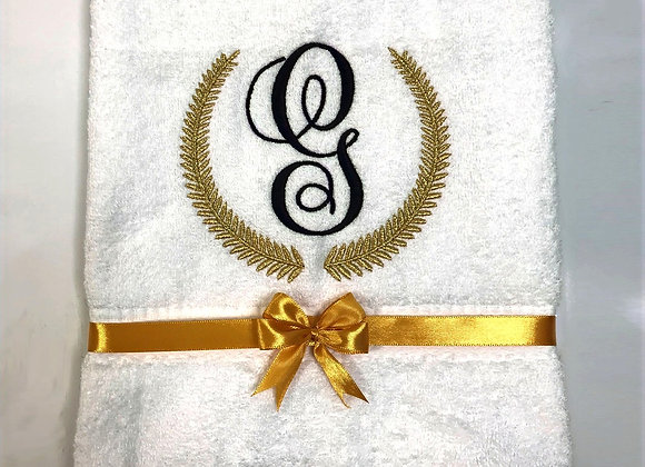 Hand towel with initial