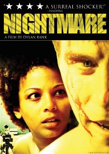 The DVD art for Bank's first directorial effort, the IFC film Nightmare