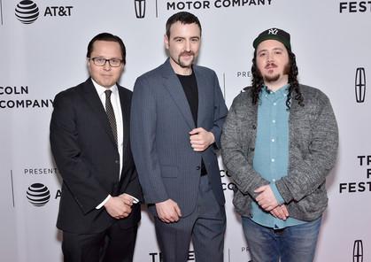 Get Me Roger Stone directors Morgan Pehme, Dylan Bank and Dan DiMauro at the 2017 Tribeca Film Festival