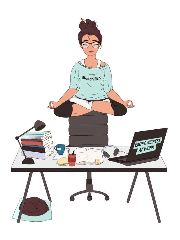 Buddhism Podcast Illustration