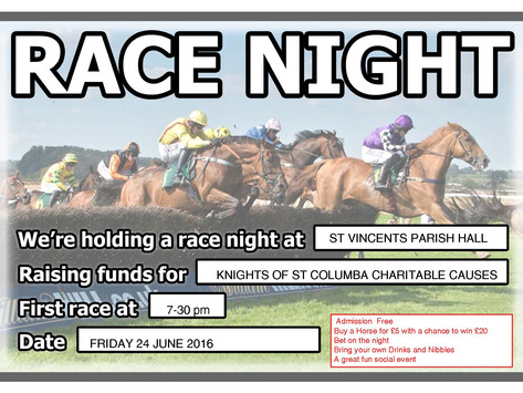Race Night - A great fun charitable social event