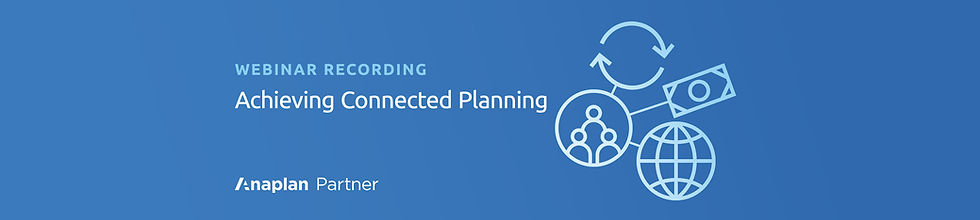 Connected Planning Webinar Recording WIX