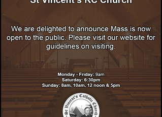 Public Masses at St Vincent's Dartford
