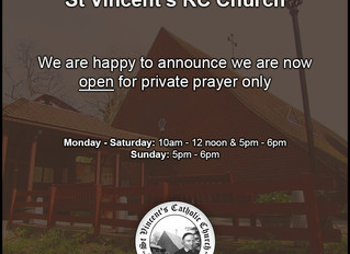 We are now open for private prayer