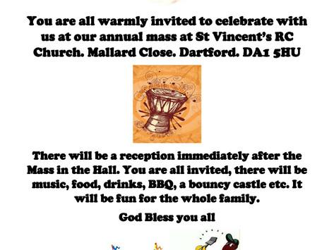 African Caribbean Mass | Sunday 22nd July 2018
