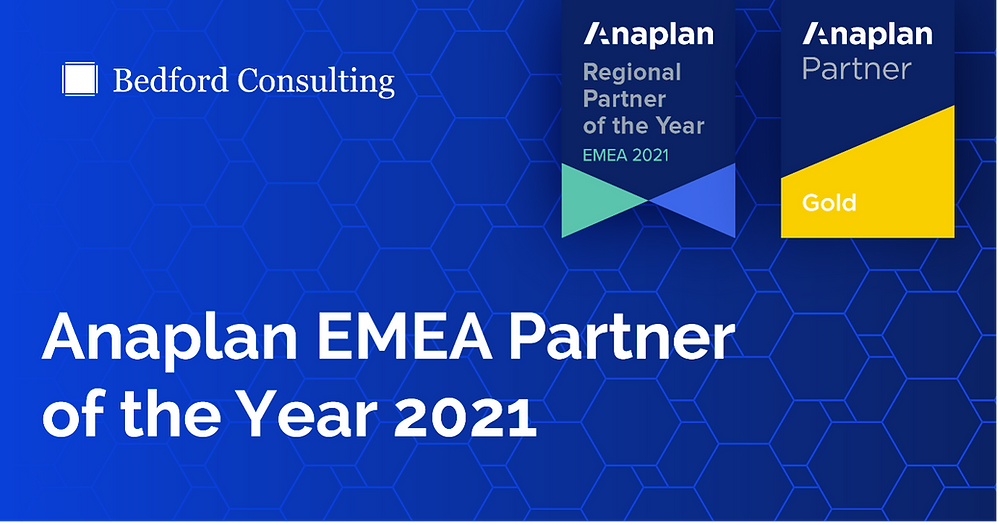 Anaplan EMEA Partner of the Year 2021 Banner