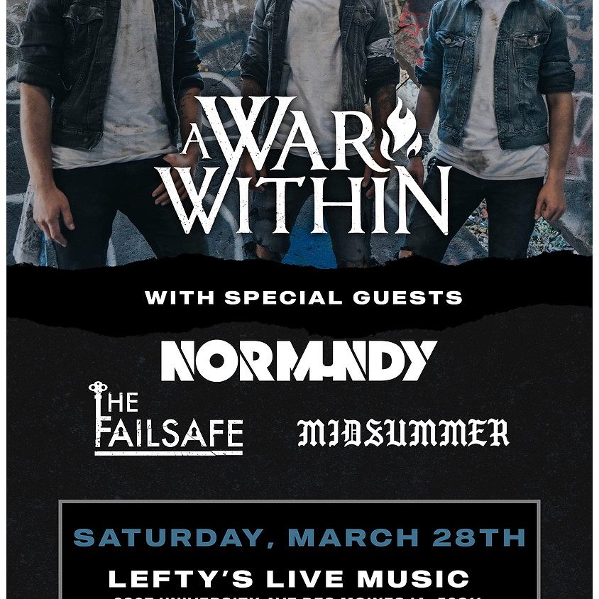A War Within, Normundy + more @Lefty's Live