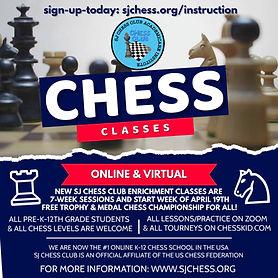 sj chess club class flyer