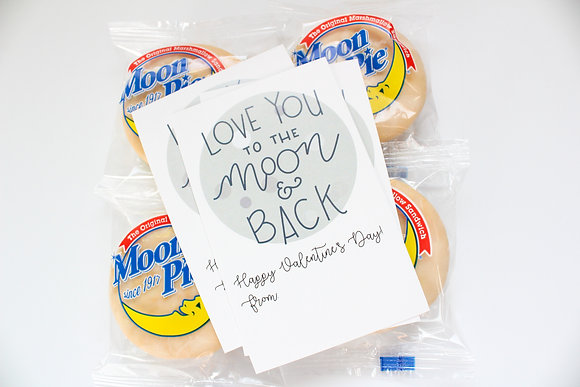 Love You To The Moon Valentines