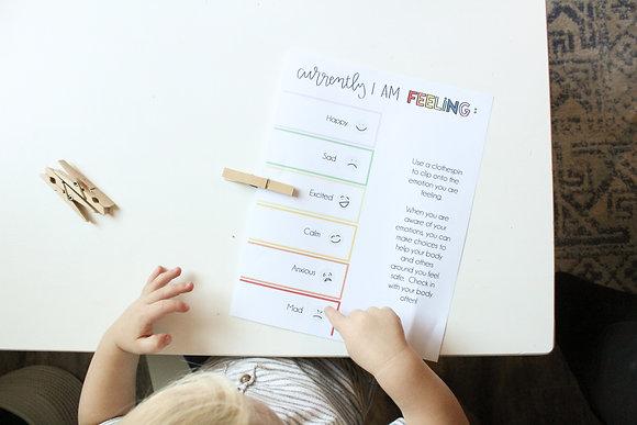 Emotions For Kids (Five Worksheet Unit)