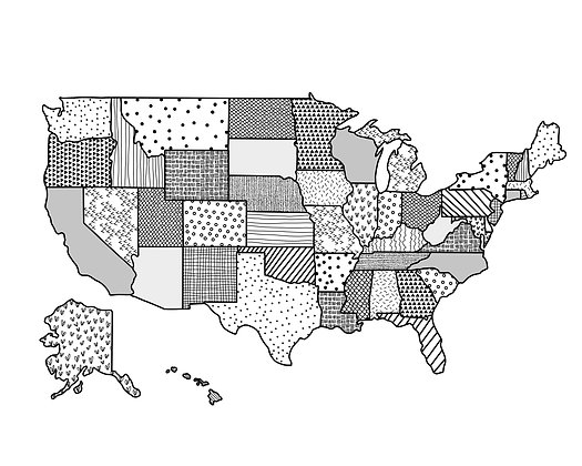 USA Pattern Map