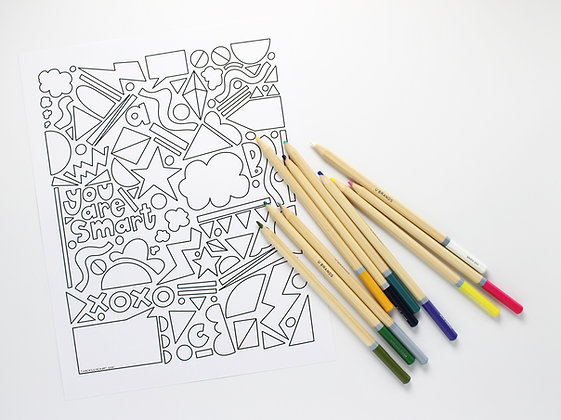 You Are Smart Coloring Page