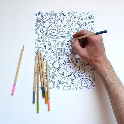 Summer Fun Coloring Page