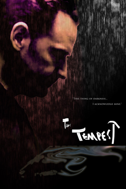 The poster for Tempest Tuesdays with the wonderful Malcolm Gets as Prospero