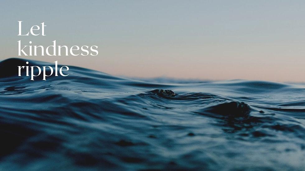 Lake Kindness Quote Serene & Calm Zoom B