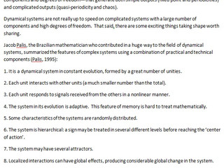 Characterizing Complex Systems  in Terms of Dynamics I