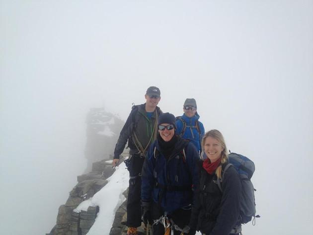 Reaching the top of Gran Paradiso 2014