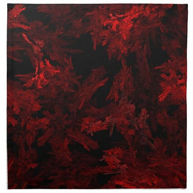 Red and Black Coral Fractal Flame Cloth