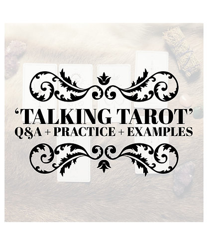 SIGN UP TO JOIN: Talking Tarot