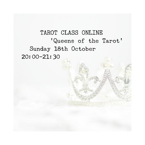 Book Now: Queens of the Tarot Class