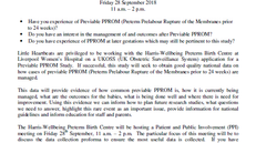 Liverpool PPROM Meeting Friday 28th September